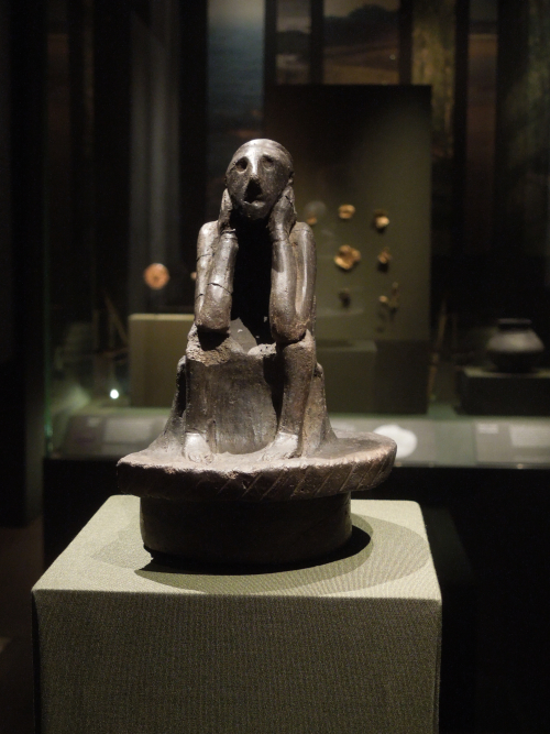 Spong Man on display in the Anglo-Saxon Kingdoms exhibition