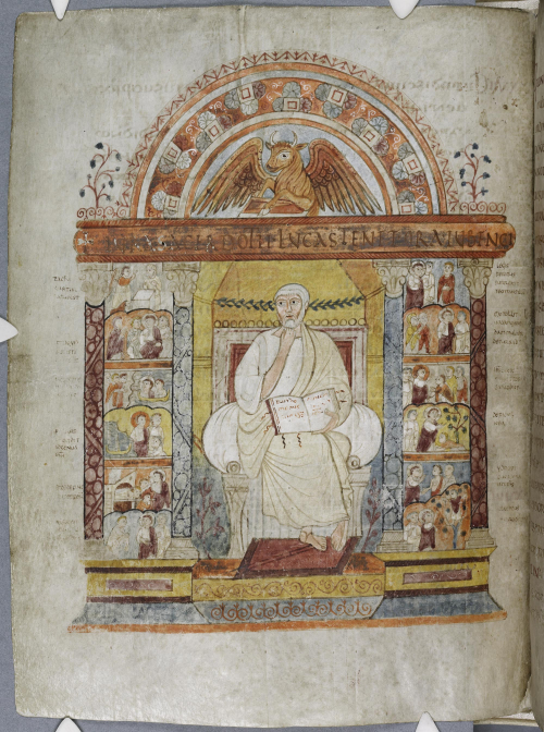 An illuminated page from the St Augustine Gospels