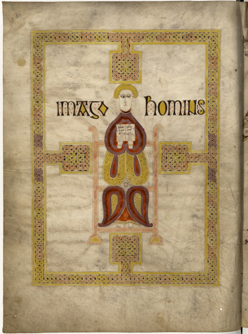 A decorated page from the Echternach Gospels