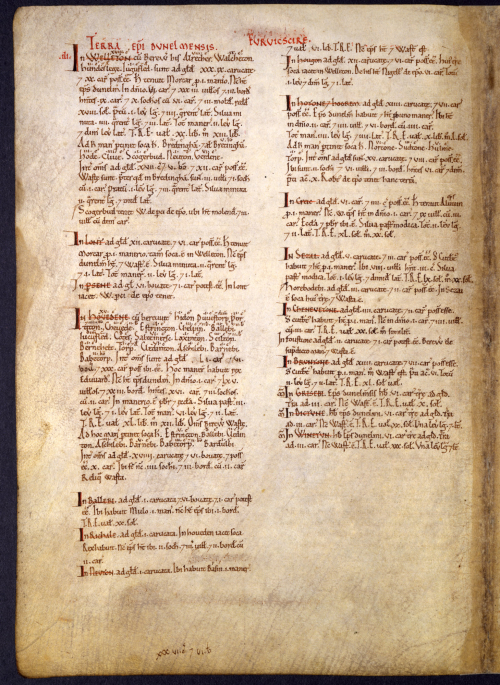 A page for Yorkshire in Great Domesday