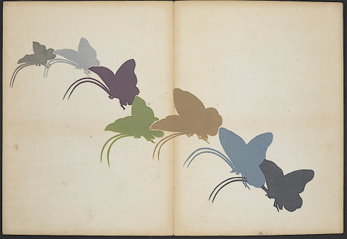 'One Thousand Butterflies' Chō senshu by Kamisaka Sekka