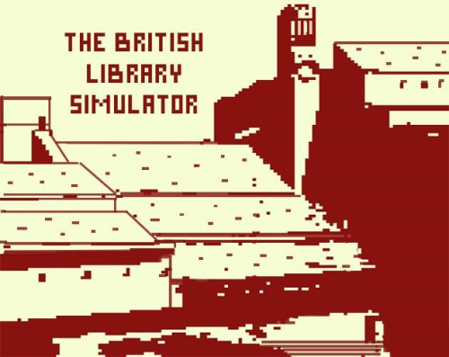 The British Library building depicted in Bitsy