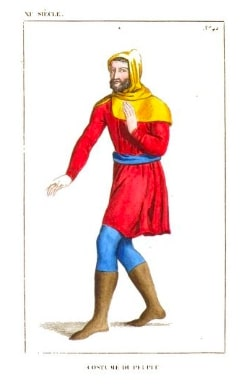 Illustration of a man in medieval clothing