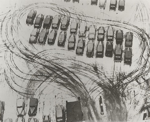 Parking Lot in Chicago, by Laszlo Moholy-Nagy