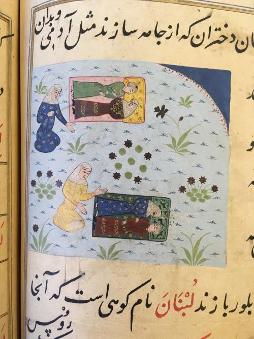 Dolls (lahfatān), Miftāḥ al-Fużalā of Shadiyabadi, Mandu, ca. 1490 .Or3299_f259v