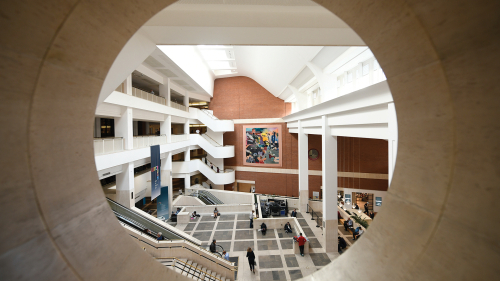 View of main entrance of British Library