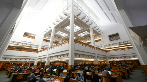 View of a Reading Room inside the British Library