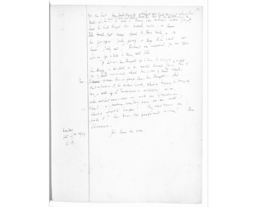 Photograph showing manuscript draft of Mrs. Dalloway by Virginia Woolf, here titled The Hours