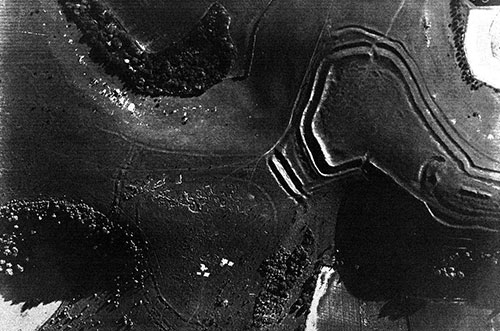 Air photograph of Hambledon Hill in Wessex 1928