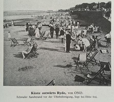 Photograph of beach near Ryde reproduced 1940