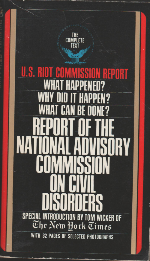 Image of front cover of the bestselling Kerner Report