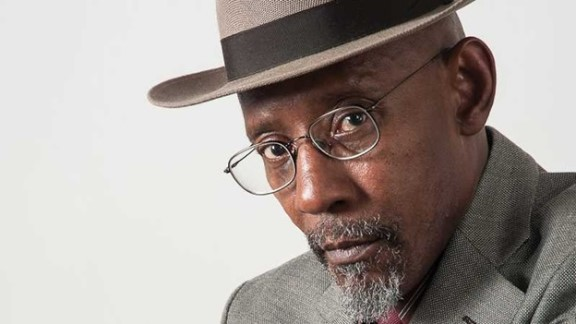 Headshot photograph of Linton Kwesi Johnson