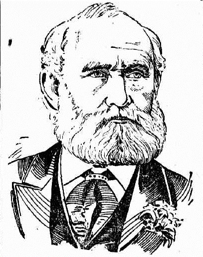 Portrait of Archibald Hamilton Jacob - The Daily Telegraph ( Sydney) 29 May 1900
