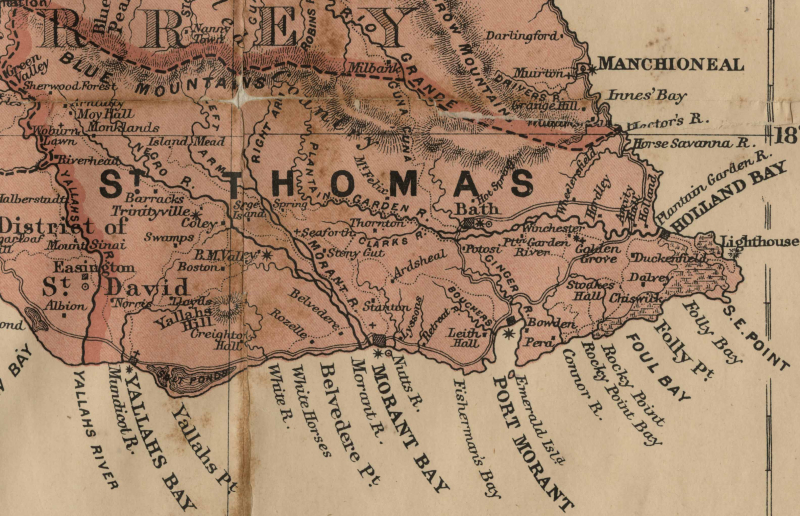 Nadine St Thomas map