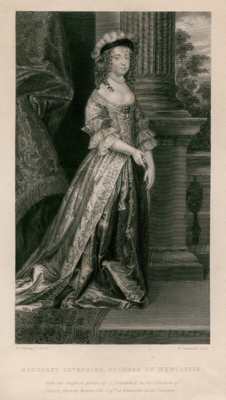 Engraving of Margaret Cavendish (née Lucas), Duchess of Newcastle upon Tyne