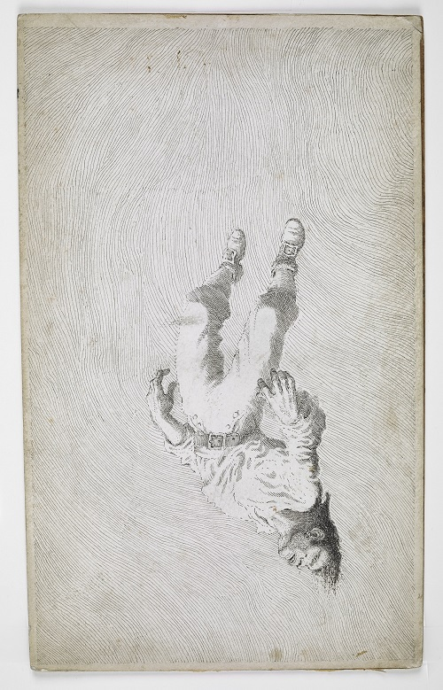 Israel Hands falling from the mast. Treasure Island  1949. © Estate of Mervyn Peake.