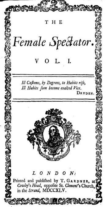 Title page from The Female Spectator