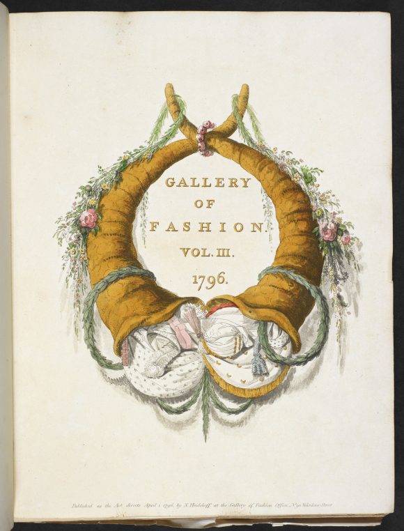 Cover of Gallery of Fashion dated 1796