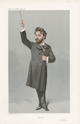 Image of Sir Henry Wood holding a baton