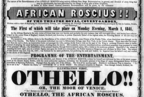 Screenshot of historical playbill