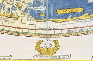 Detail of Ptolemy World Map, 1482