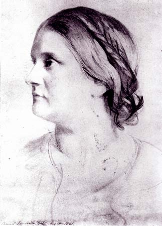 Sketch of Barbara Bodichon