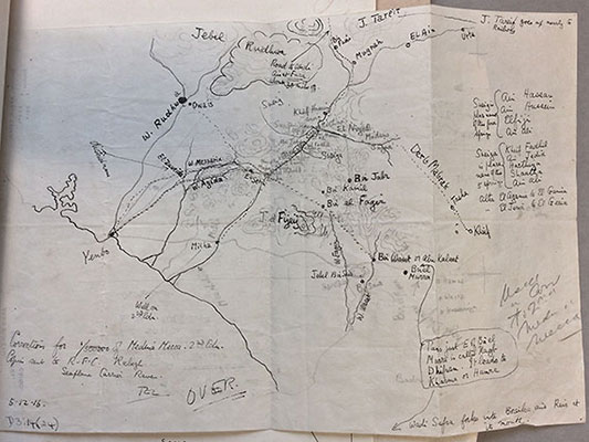 Sketch map of Yenbo made by T.E. Lawrence