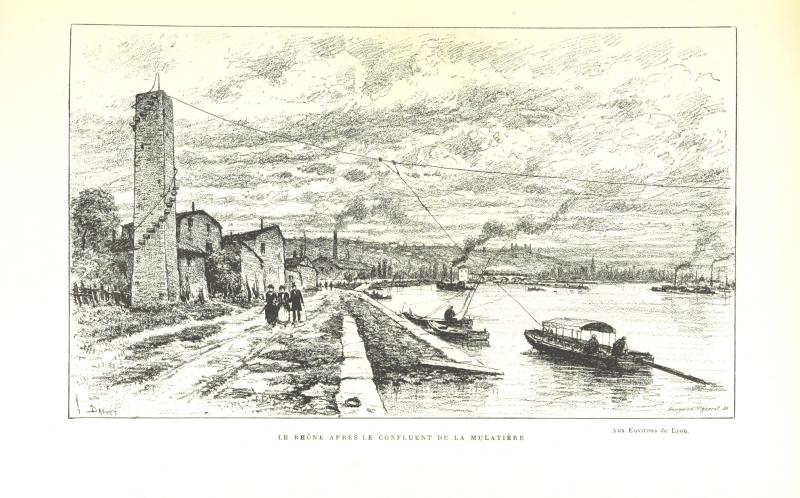 6-Aux Environs de Lyon- préface de M. Coste-Labaume. Édition illustrée de 250 dessins de J. Drevet  etc (1)