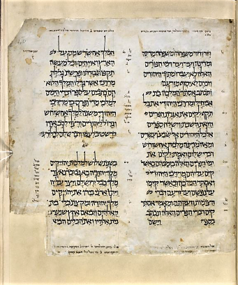 Illuminated page with Hebrew text
