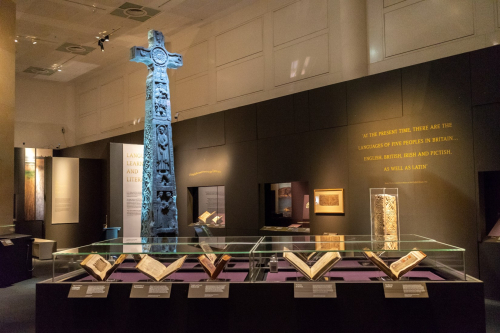 The Ruthwell Cross replica in the gallery