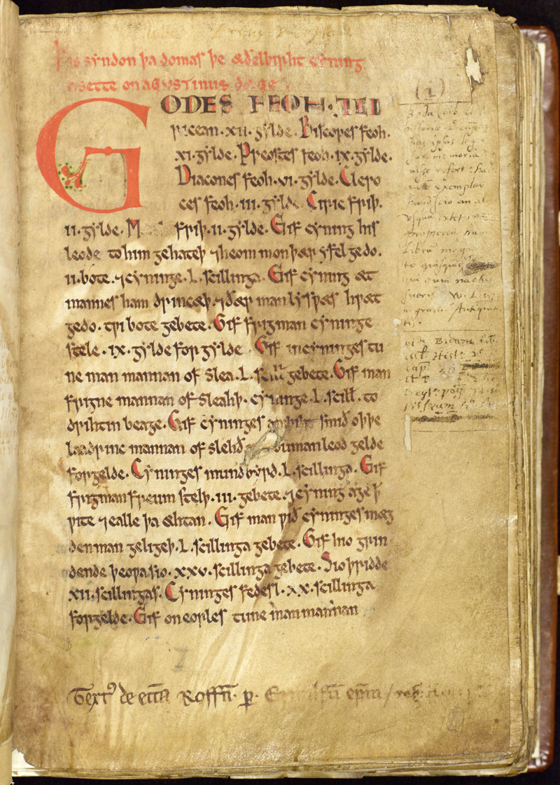 Law-Code of King Aethelberht of Kent - Textus Roffensis_0011
