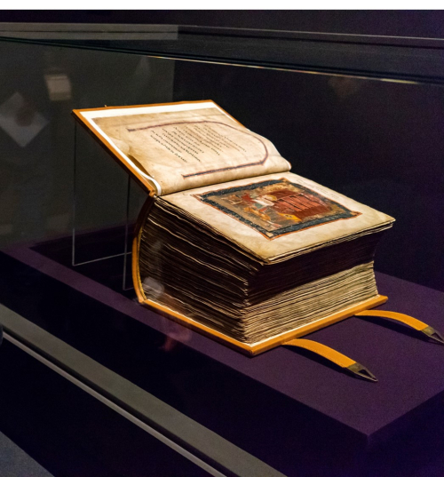 Codex Amiatinus on display in the exhibition