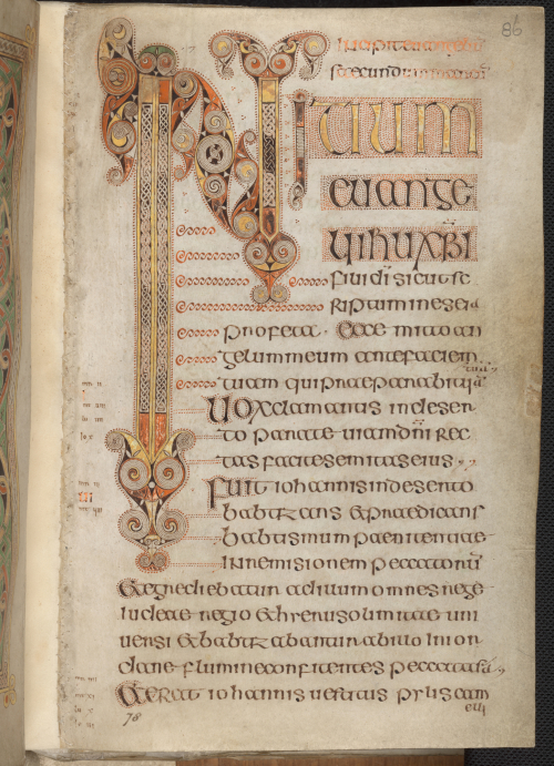 A decorated page from the Book of Durrow