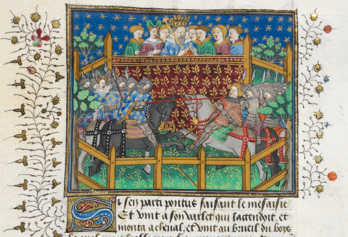 Ponthus kills the Duke of Burgundy, in the Shrewsbury Book