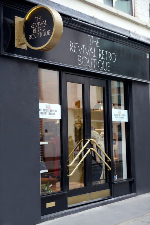 The Revival Retro Boutique shopfront