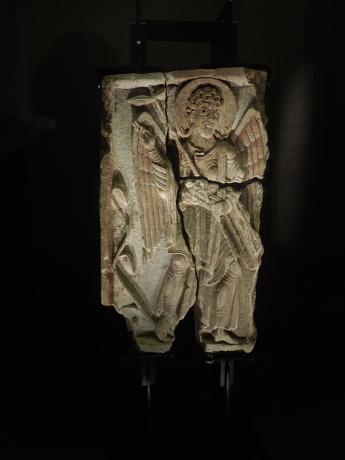 The Lichfield Angel on display in the exhibition