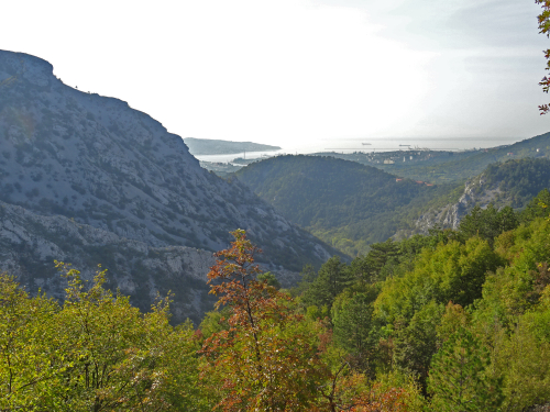 Photograph of Trieste from the karst