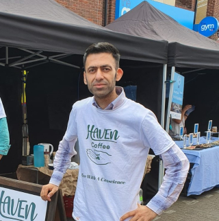 Usman, founder of Haven Coffee