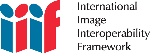 IIIF logo with text saying International Image Interoperability Framework