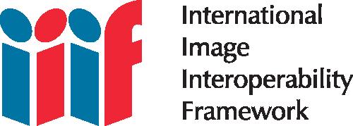 IIIF logo with text saying International Image Interoperability Framework