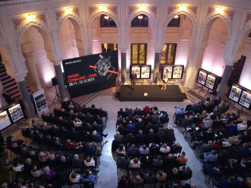 Photograph of a book launch in Sarajevo City Hall