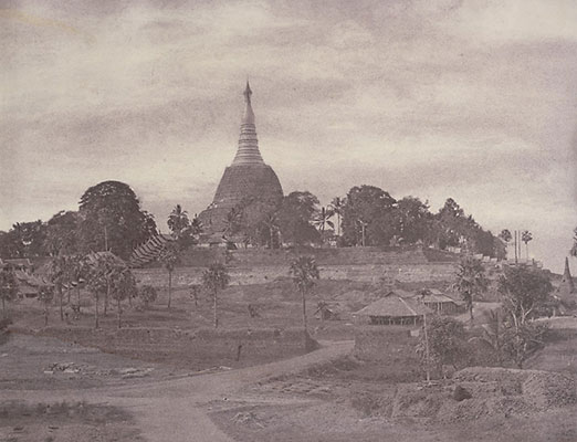 Photograph of Shwe Dagon Pagoda, Burma by Linnaeus Tripe
