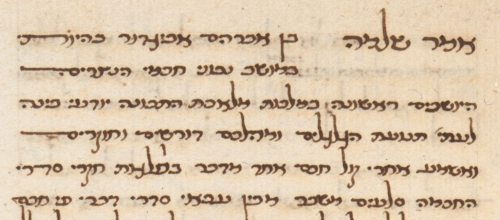 Close up of text from preface of Hebrew translation