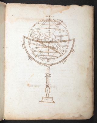 Manuscript diagram of why water is round