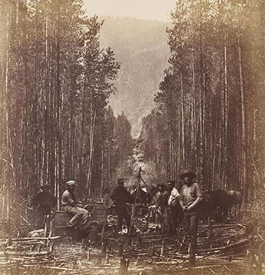 Photograph of Royal Engineers Survey Team circa 1860