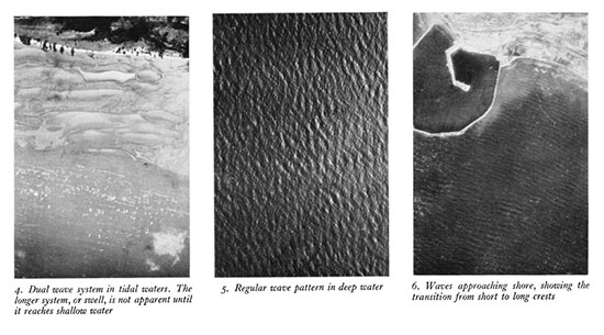 Air photographs of waves 1940s