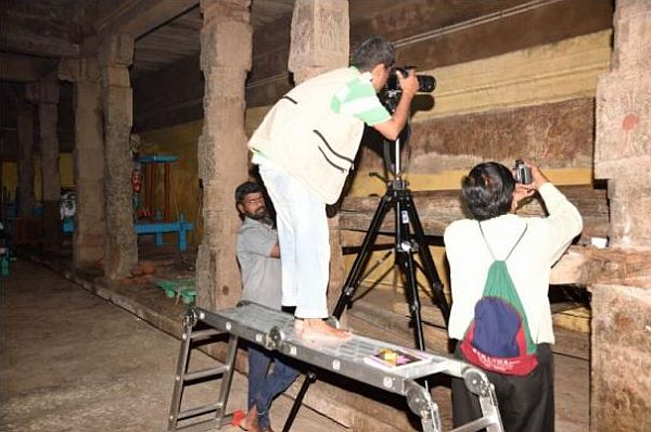 Project Team Digitising a Temple Wall