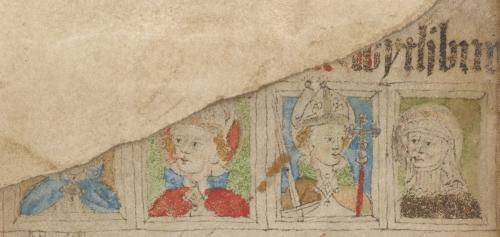 Represtation of St Thomas Becket in a calendar