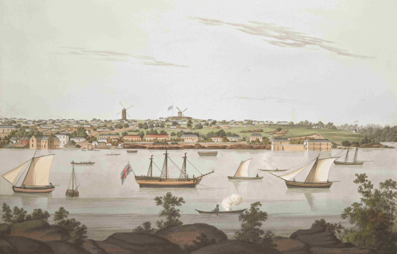 Sydney - view from east side of the cove 1810