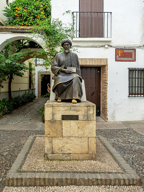 Monument of Maimonides in Córdoba, Spain